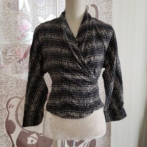 Jones New York Wrap Around Blouse